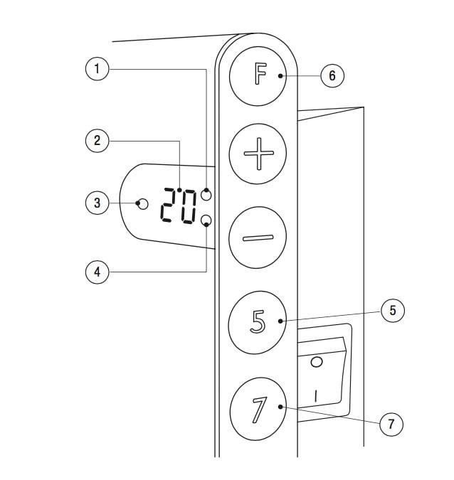 adax-neo-bedieningspaneel