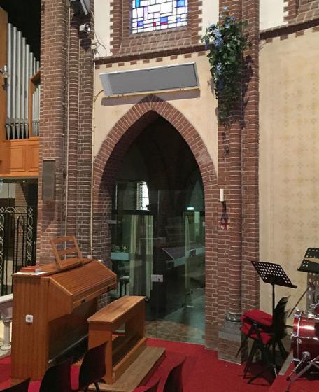 Infrarood verwarming kerk