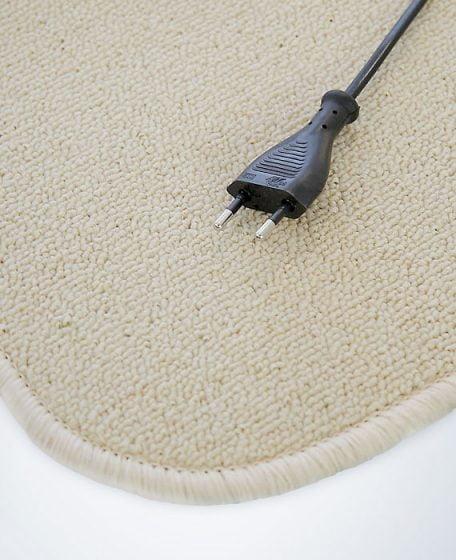 Beige warme voeten mat