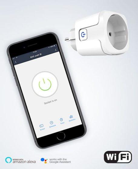 WiFi stekker voor infrarood verwarming met app bediening