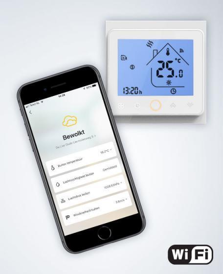 WiFi thermostaat IR verwarming programmeerbaar