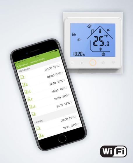 Wifi inbouwthermostaat infraroodpanelen