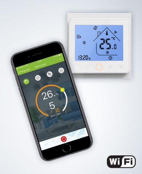 WiFi thermostaat stralingspanelen mobiel bediening